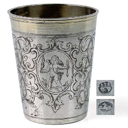 Silver beaker from silver smith Heinrich von Dort, Hamburg.